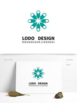 原創青綠色兒童服裝logo