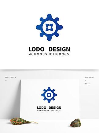 原創藍色航海企業logo