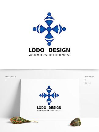 原創藍色醫療科技器械機構logo設計