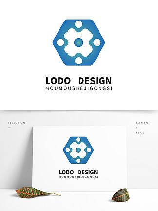 原創幾何六邊形logo設計