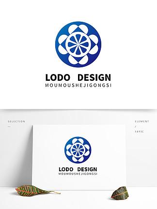 原創藍色檸檬科技文化logo