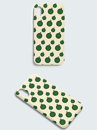 原創綠色抽象西瓜手機殼設計