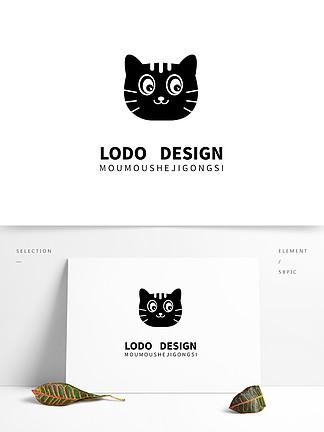 原創怪力貓卡通貓咪logo合計