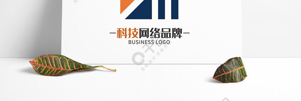 高級時尚撞色網絡科技logo