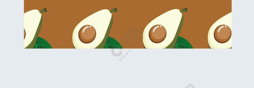 原創牛油果平鋪手機殼設計
