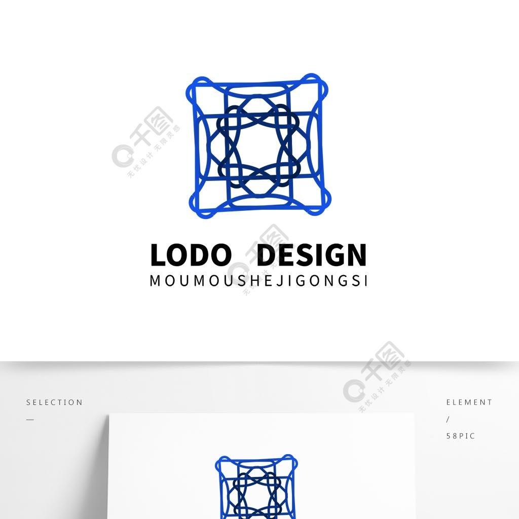 原創藍色漸變科技互聯網趨勢logo