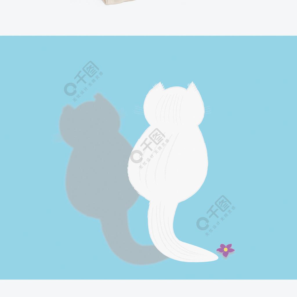 原創手繪貓背影藍色手提袋帆布袋