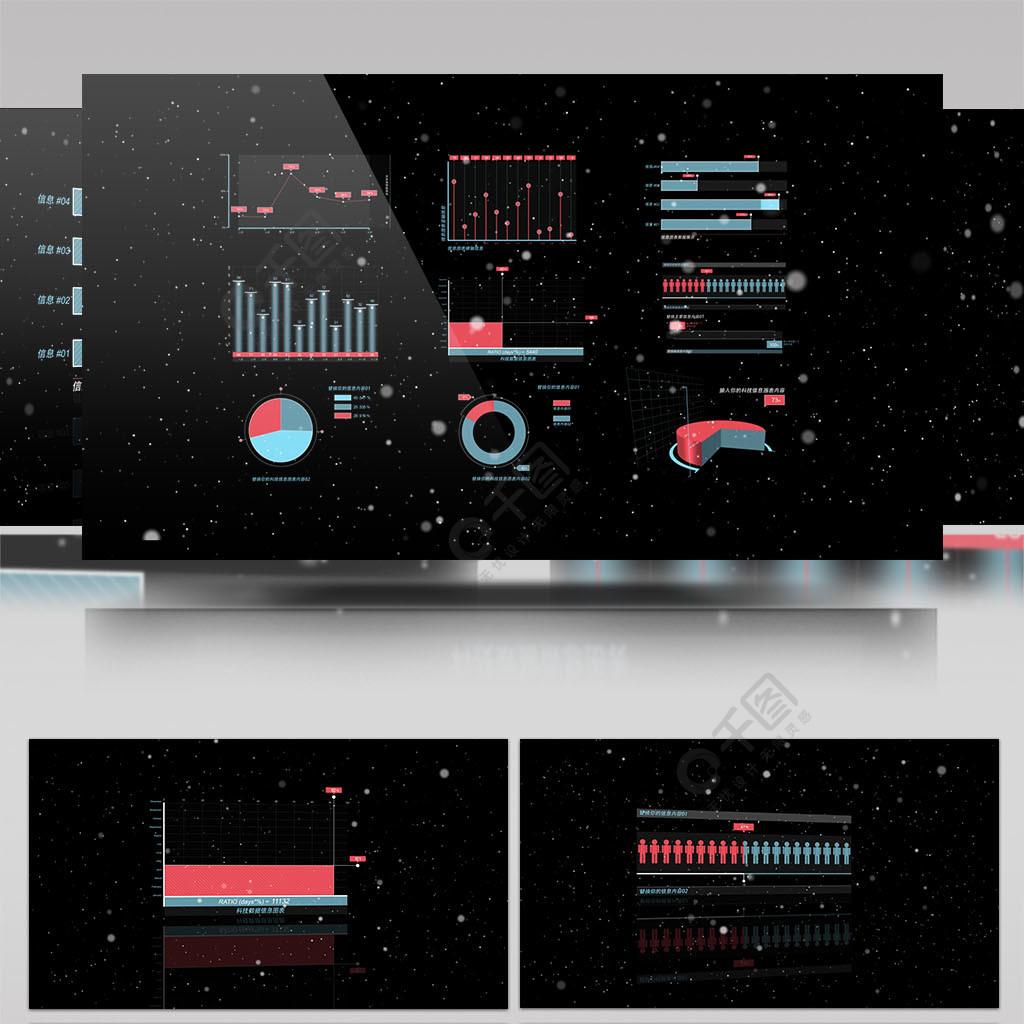 科技感數據信息圖表AE模板