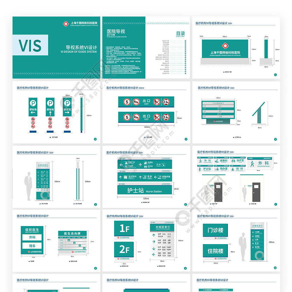 醫療機構VI導視系統VI設計
