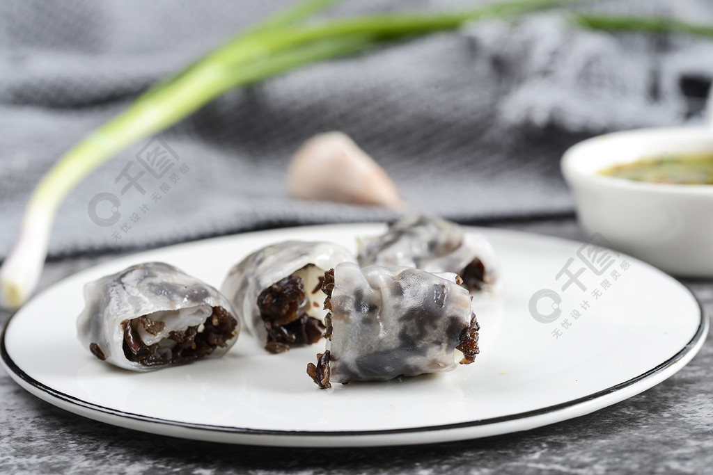 特色小吃腸粉小卷粉