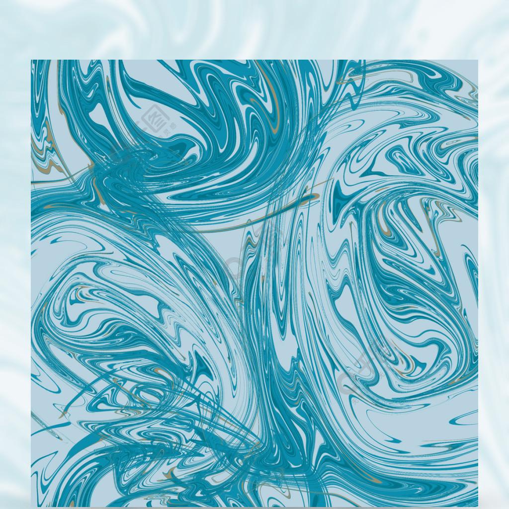 藍色流體質感大理石背景