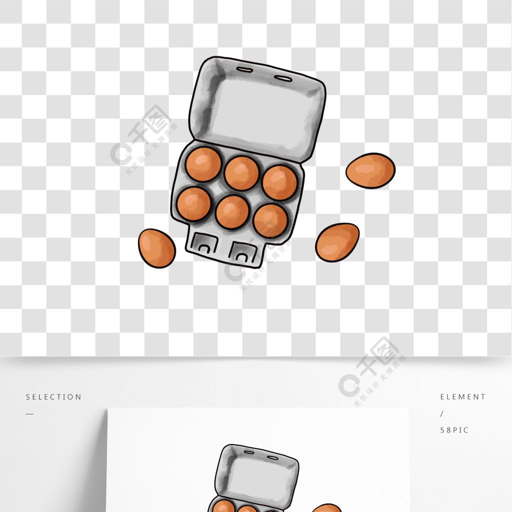 雞蛋美食盒子涂鴉