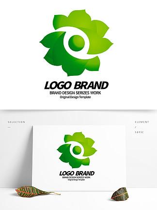 简约创意绿色花朵绿化企业LOGO标志设计