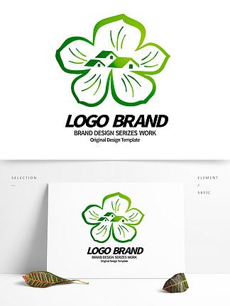 简约创意绿叶房屋绿化园林企业LOGO设计