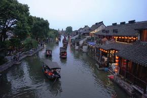 西塘古镇名胜古迹摄影图