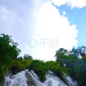 贵州自然风景水流自然森林