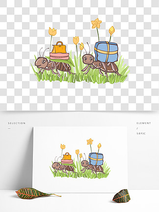 图片免费下载 蚂蚁搬家素材 蚂蚁搬家模板 千图网
