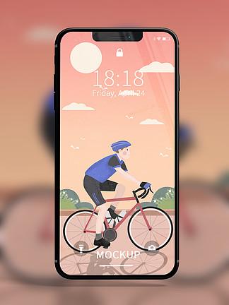 原创模型锁屏UI样机手机