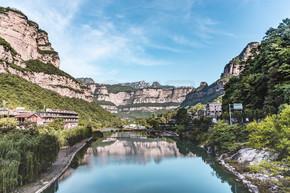 河南太行山山水风光自然风景