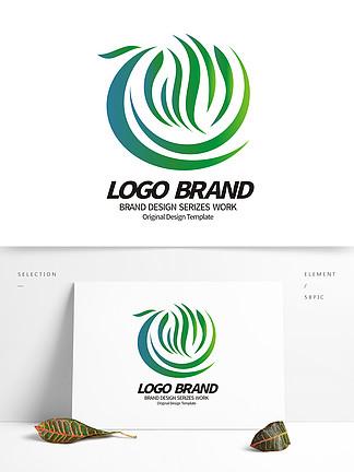 创意花纹logo凤凰花形绿化环保标志设计