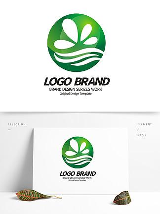 创意绿色花朵logo环保绿化标志设计