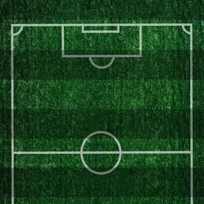 航拍足球场全景空景摄影图