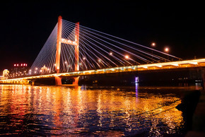 吉林临江门大桥夜景吉林市著名大桥