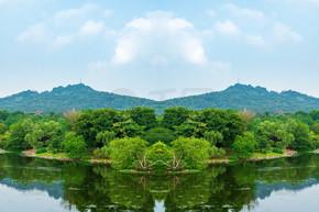 户外园林景观风景树林山水