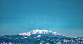 日本冬季旅行北海道摩周岳风景实拍图