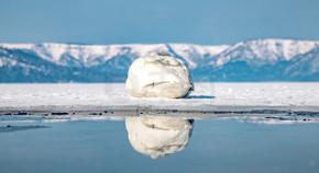 日本冬季旅行北海道屈斜路湖风景实拍图