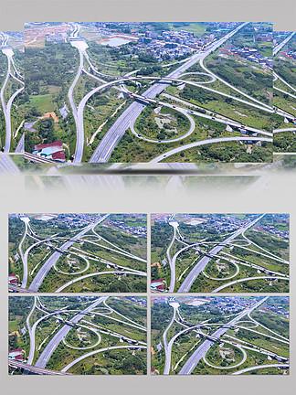 高速公路立体交叉出入口车流