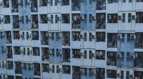 宿舍楼高楼摄影图背景