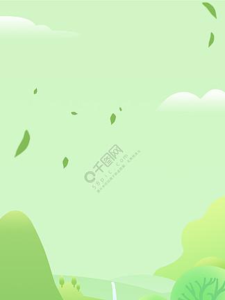 綠色海報 樹葉圖片