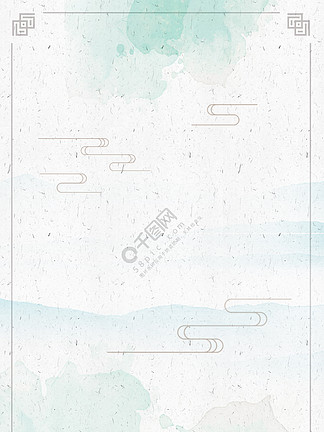 中国风小清新古风水墨背景海报