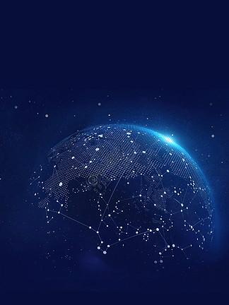 蓝色科技成就未来PSD分层