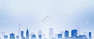 简约大气渐变城市建筑企业<i>ppt</i><i>背</i><i>景</i>