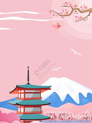 日本旅游<i>樱</i><i>花</i><i>海</i><i>报</i>