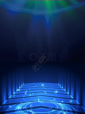 蓝色科技光效海报