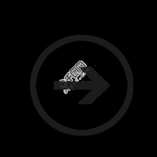 向右圆圈黑色<i>箭</i><i>头</i>图标矢量素材