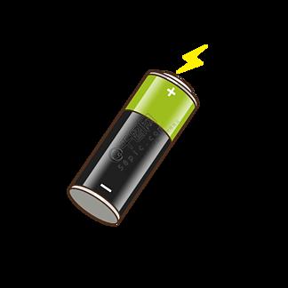 绿色新能源电池矢量