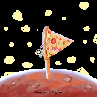 卡通?#21482;?#25277;象披萨设计