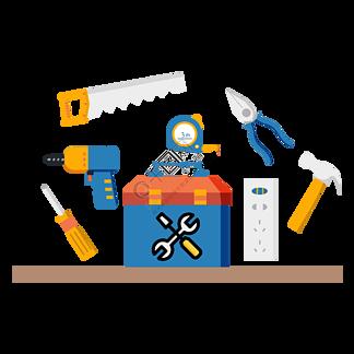 设备和维修工作的水平向量