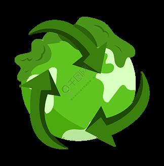环保循环标志psd素材