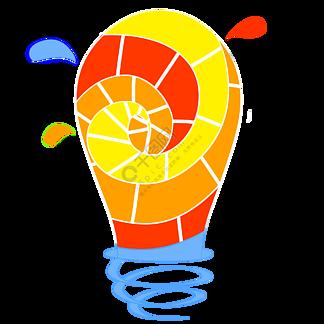 彩色灯泡商务信息图矢量素材