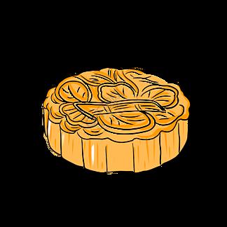 中秋节月饼手绘风格PNG免抠图片