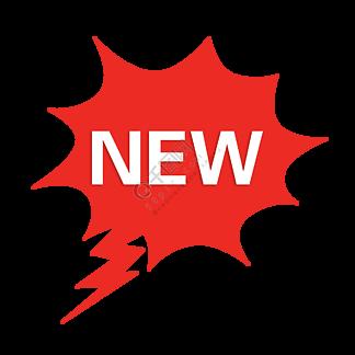 红色新款火爆促销标签免费下载