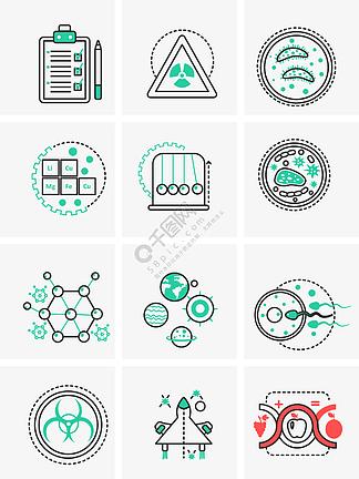 科学周期表蝌蚪细菌科技小图标
