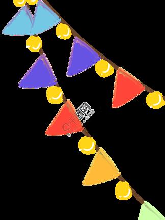 活跃节日氛围的小彩旗