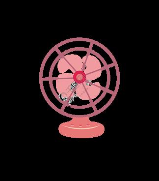 卡通手绘电风扇素材