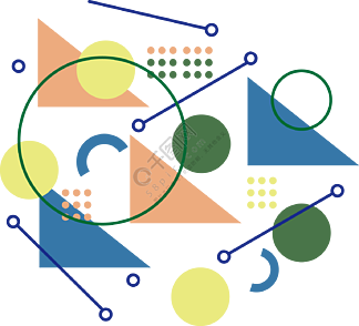 创意几何孟菲斯图案